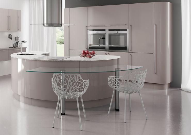 Nixon Gloss Island in Heritage Grey | Sigma 3 Kitchens Sigma 3 Kitchens KitchenCabinets & shelves