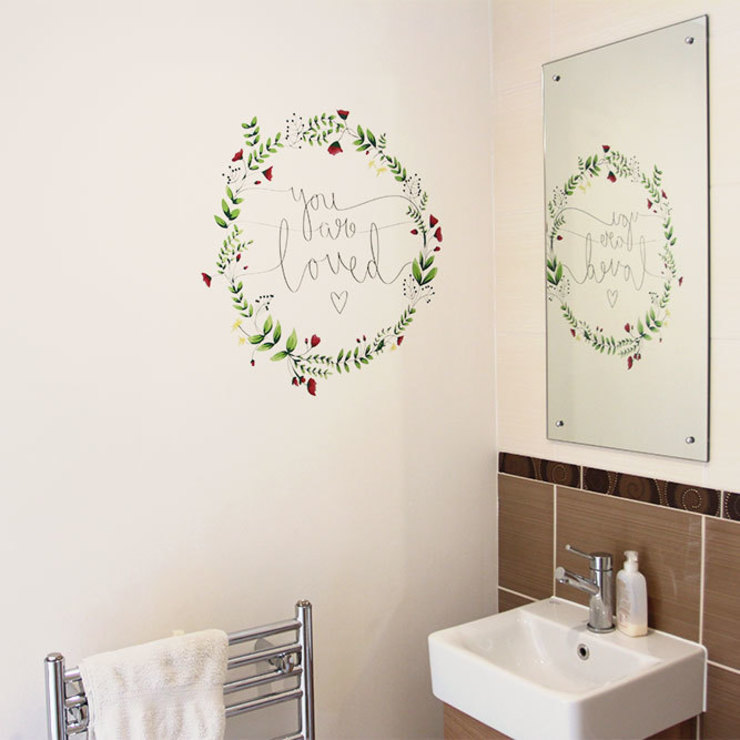 Floral you are loved wall sticker Vinyl Impression Walls & flooringWall tattoos