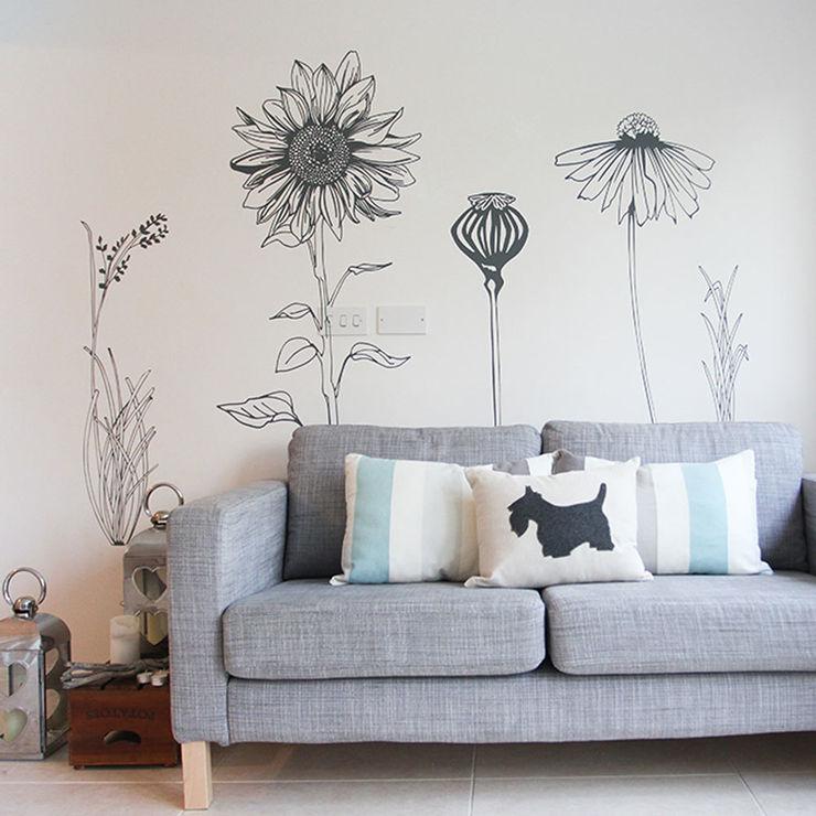 Hand drawn flower (pack 2) wall stickers Vinyl Impression Walls & flooringWall tattoos