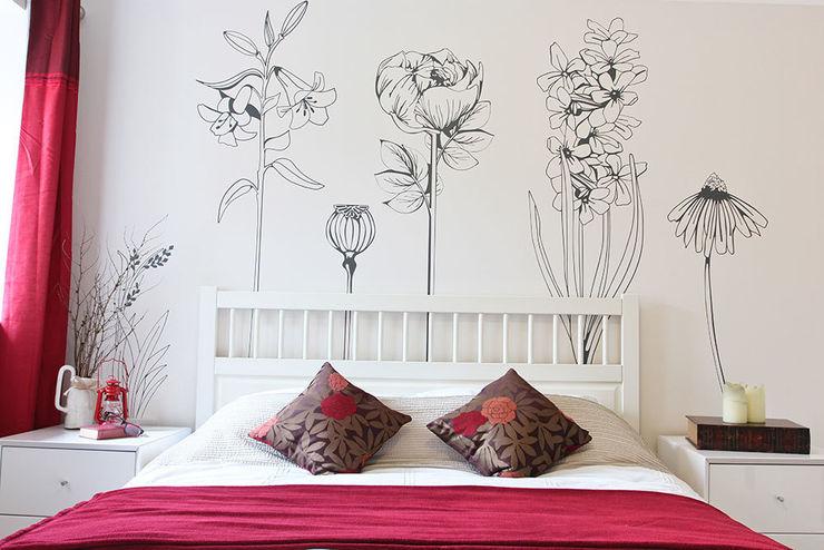 Hand drawn flower (pack 1) wall stickers Vinyl Impression جدران وأرضياتديكورات الجدران