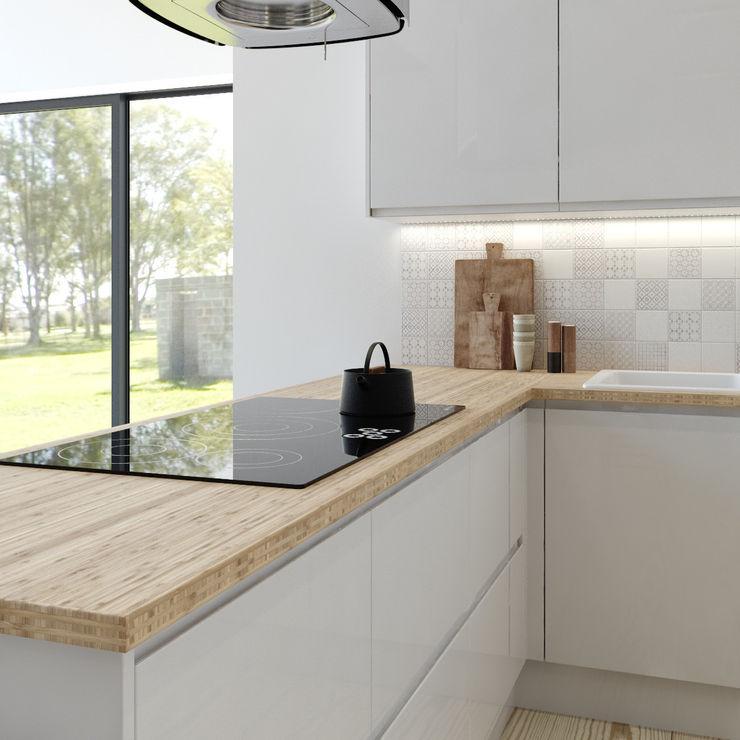 Manhattan gloss kitchen in white Kitchen Stori CuisinePlacards & stockage