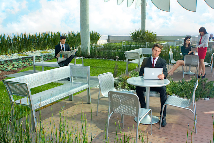 Azoteas Verdes Балкон и терраса в стиле модерн