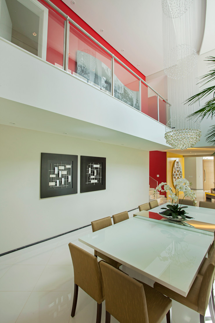 Designer de Interiores e Paisagista Iara Kílaris Nowoczesna jadalnia