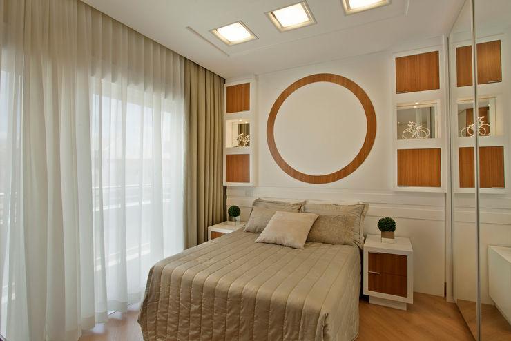 Designer de Interiores e Paisagista Iara Kílaris Nowoczesna sypialnia