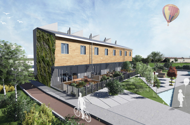 Mild Homes / NZEB Social Housing - Modena ia2 studio associato Case moderne