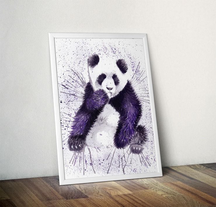 Splatter Panda by Katherine Williams Wraptious ArtworkPictures & paintings