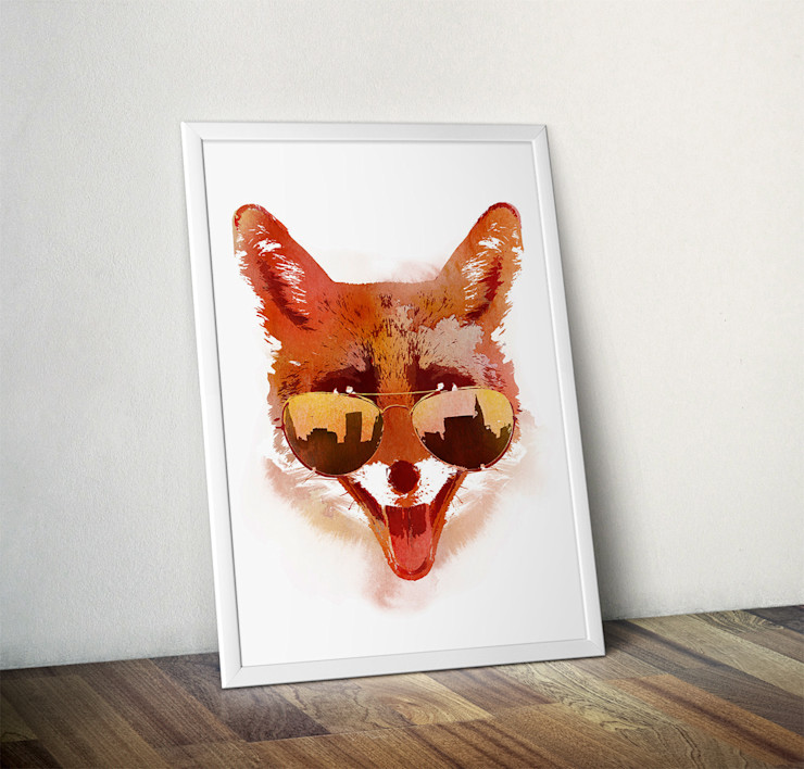 Big Town Fox by Robert Farkas Wraptious ArtworkPictures & paintings