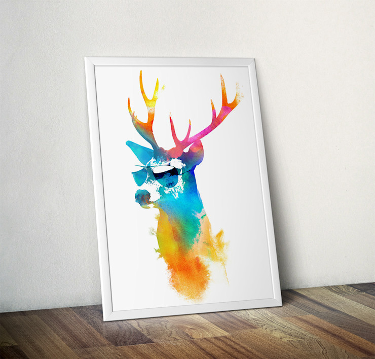 Sunny Stag by Robert Farkas Wraptious ArtworkPictures & paintings