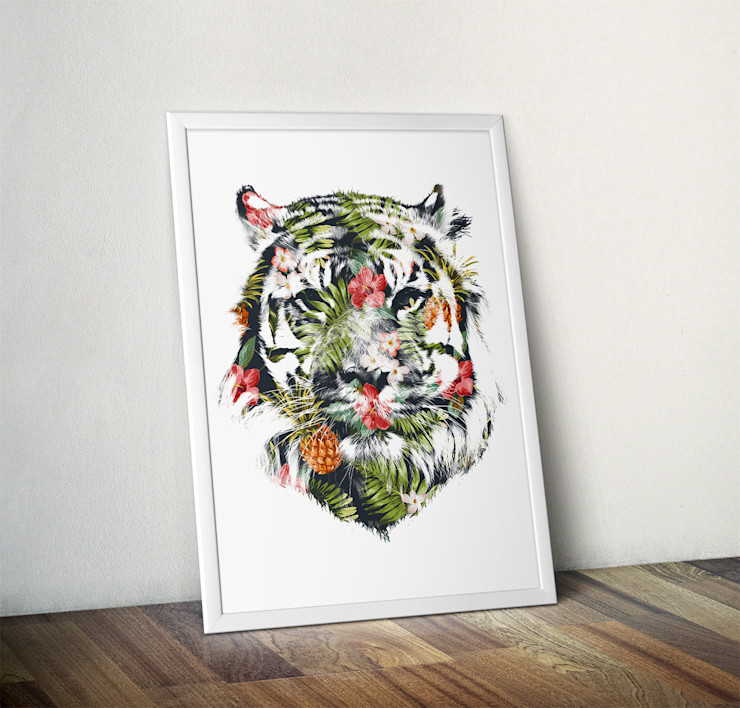 Tropical Tiger by Robert Farkas Wraptious ArtworkPictures & paintings