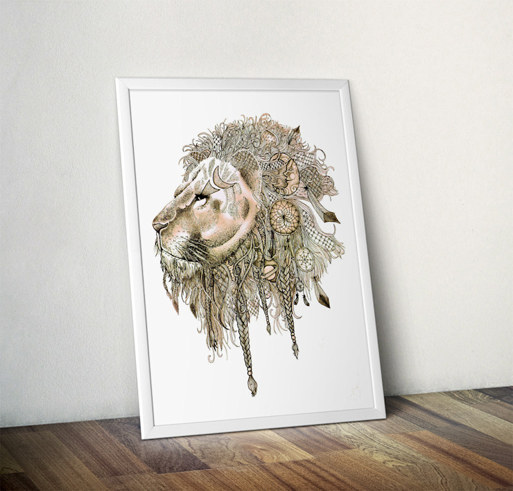 Lion's Mane by Stephanie Wood Wraptious ArtworkPictures & paintings