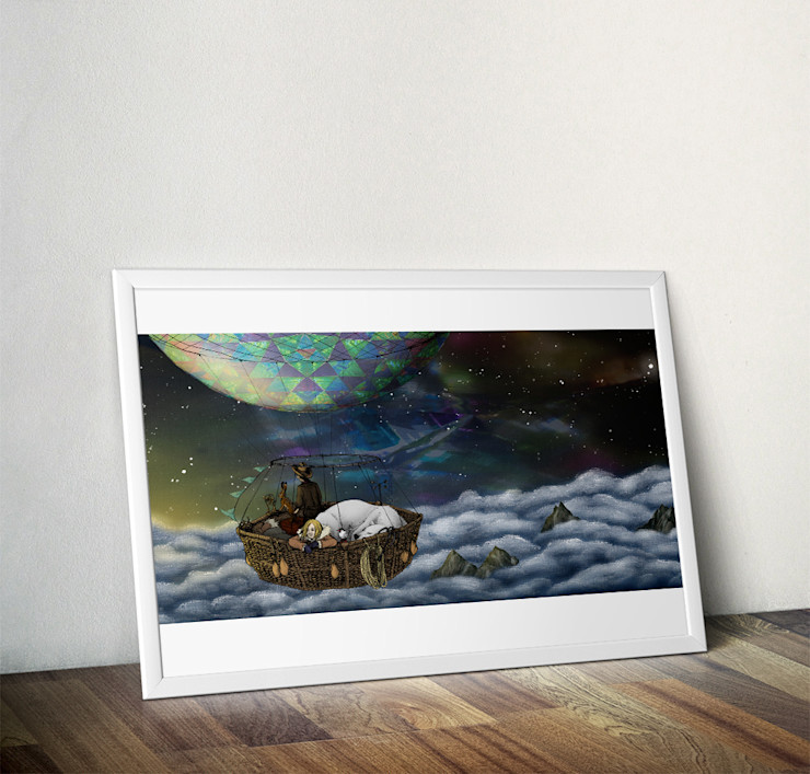 His Dark Materials, Scoresby's Balloon by Lyndsey Green Wraptious ArtworkPictures & paintings