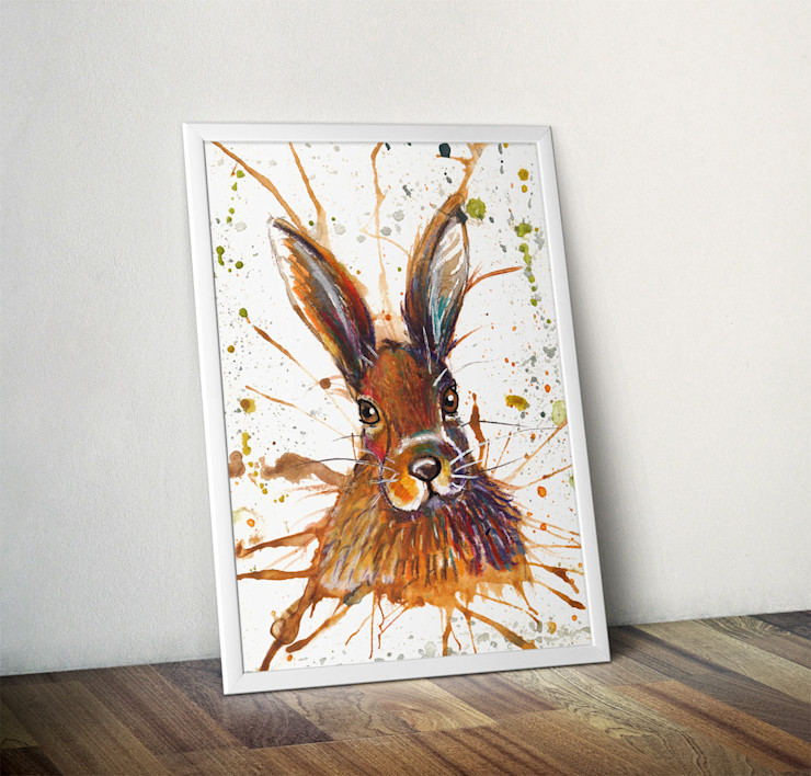 Splatter Hare by Katherine Williams Wraptious ArtworkPictures & paintings