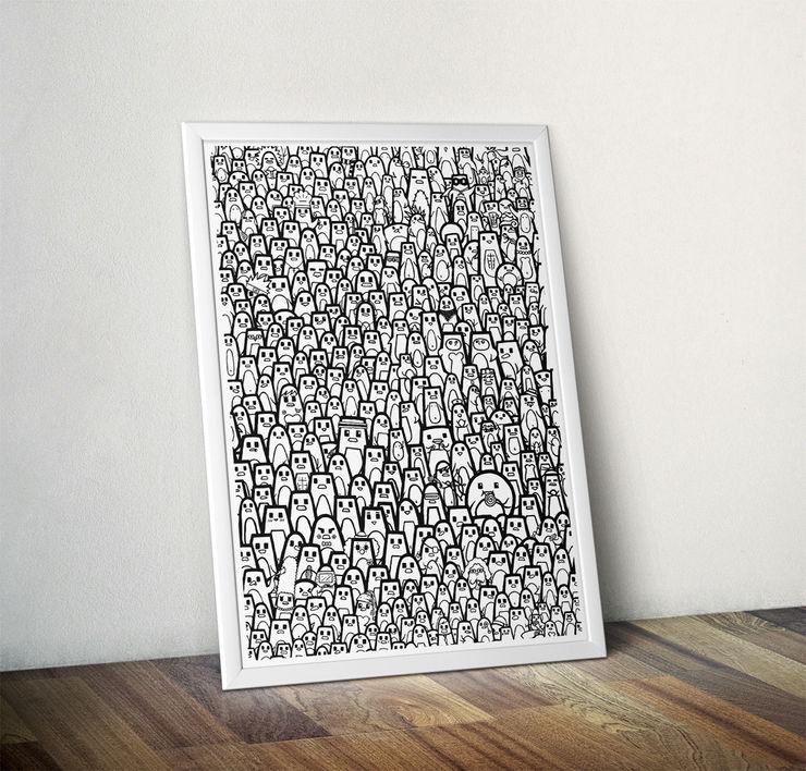 Pingu Ville by Elena Montoya Alvarez Wraptious ArtworkPictures & paintings