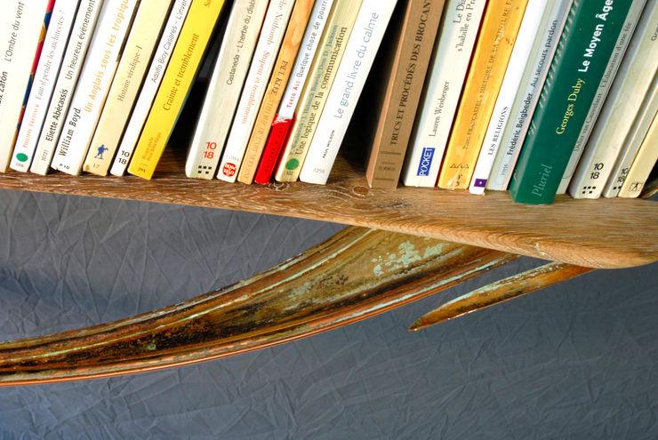 Bibli-ellipse N°7 - détail Jean Zündel meubles rares SalonEtagères