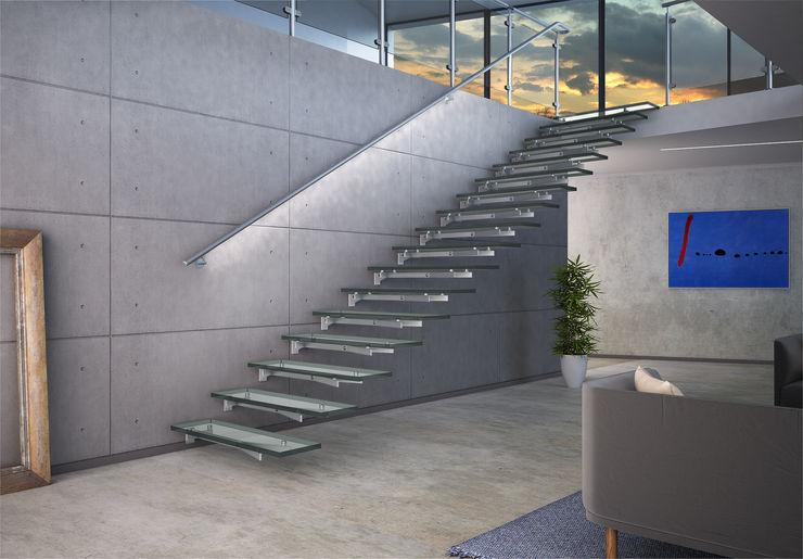 Glasstree Wall IAM Design Corridor, hallway & stairsStairs