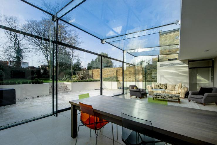 Barnes, London: Culmax Glass Box Extension Maxlight Moderne Fenster & Türen