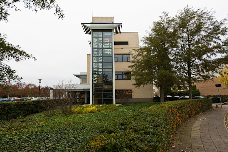Signing gevel ontwerpplek, interieurarchitectuur Moderne kantoorgebouwen