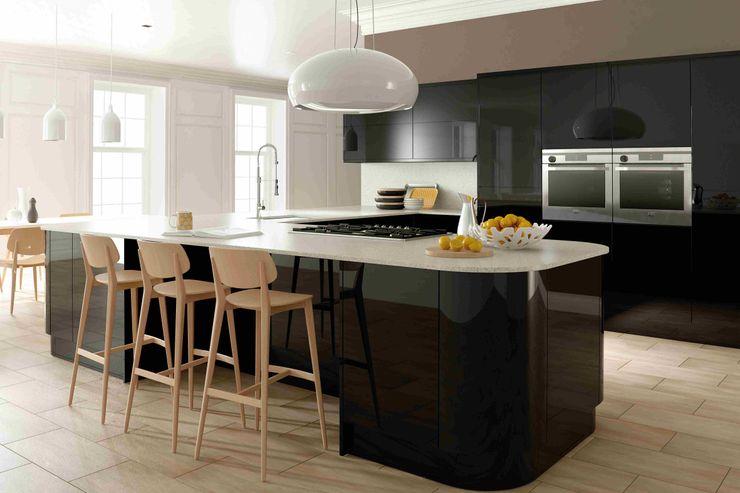 Ultra Gloss Black Kitchen Dream Doors Ltd 廚房儲櫃