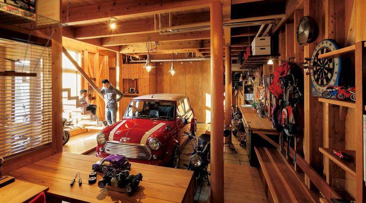H2O設計室 ( H2O Architectural design office ) Garages & sheds
