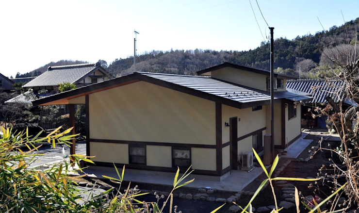 H2O設計室 ( H2O Architectural design office ) Rustykalne domy