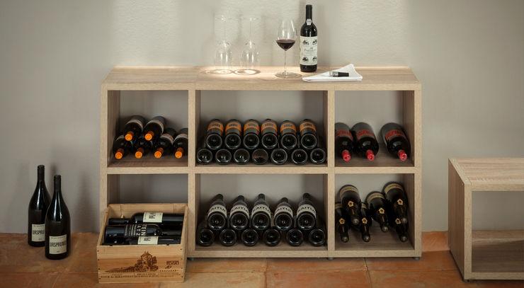 Regalraum GmbH Rustic style wine cellar Chipboard Wood effect