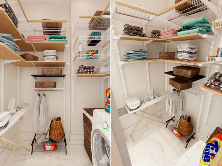 Студия дизайна интерьера Маши Марченко Eclectic style garage/shed