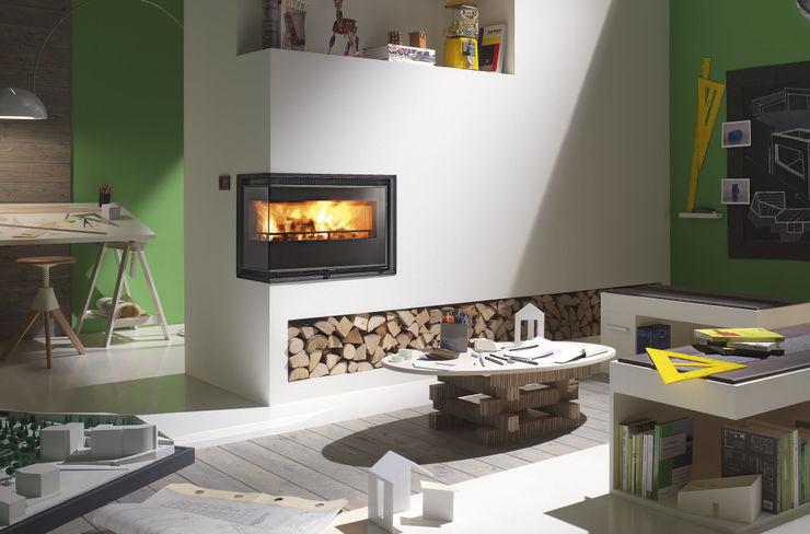 Calorvision Eco CLAM Caminetti e Stufe Soggiorno moderno