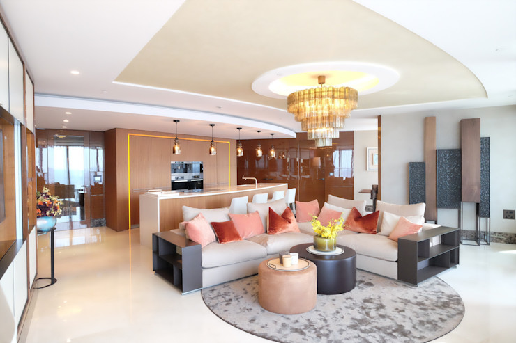 Penthouse apartment, Vauxhall Keir Townsend Ltd. Living room