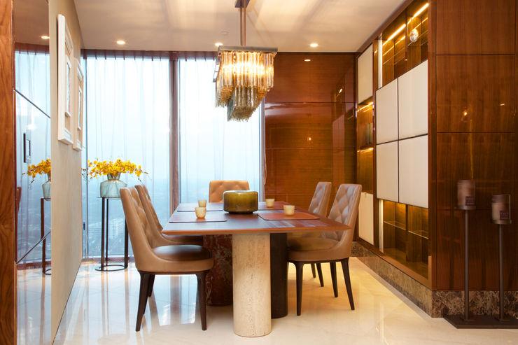 Penthouse apartment, Vauxhall Keir Townsend Ltd. Modern dining room