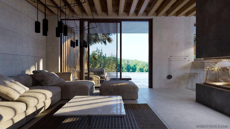 Elena Arsentyeva Industrial style balcony, veranda & terrace