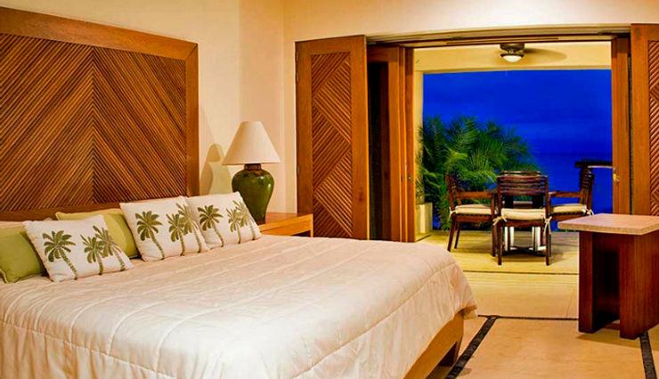 BR ARQUITECTOS Tropische Schlafzimmer