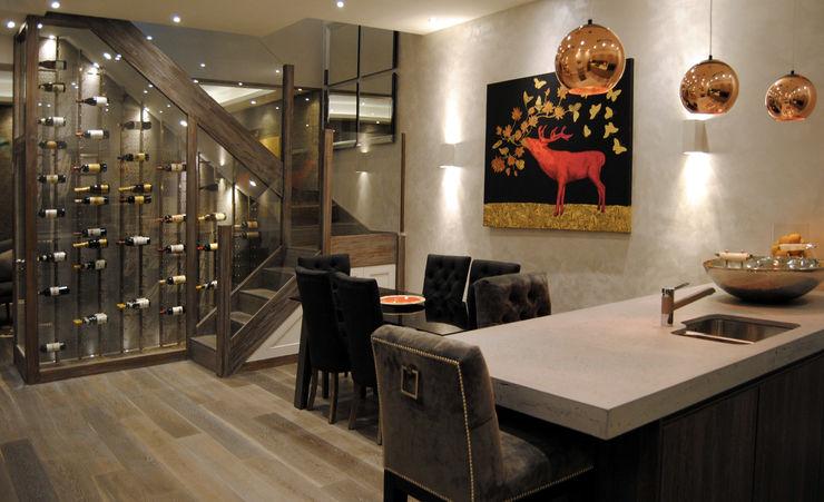 Coleherne Mews Concrete LCDA Modern Dining Room