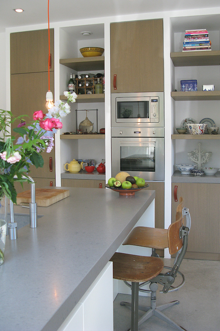keuken kastenwand Boks architectuur Moderne keukens