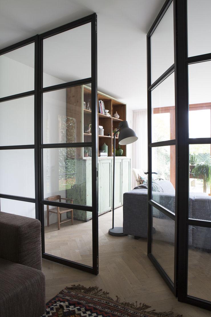 stalen binnendeuren Boks architectuur Moderne ramen & deuren