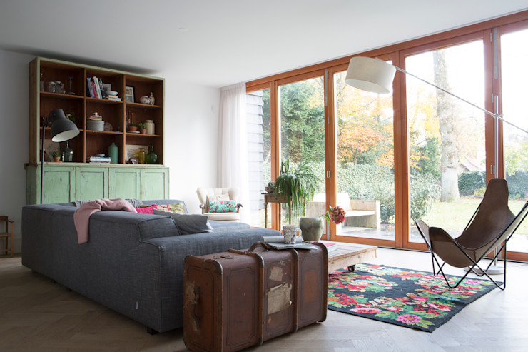 leefruimte Boks architectuur Moderne woonkamers