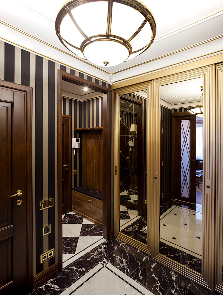 InScale Classic style corridor, hallway and stairs