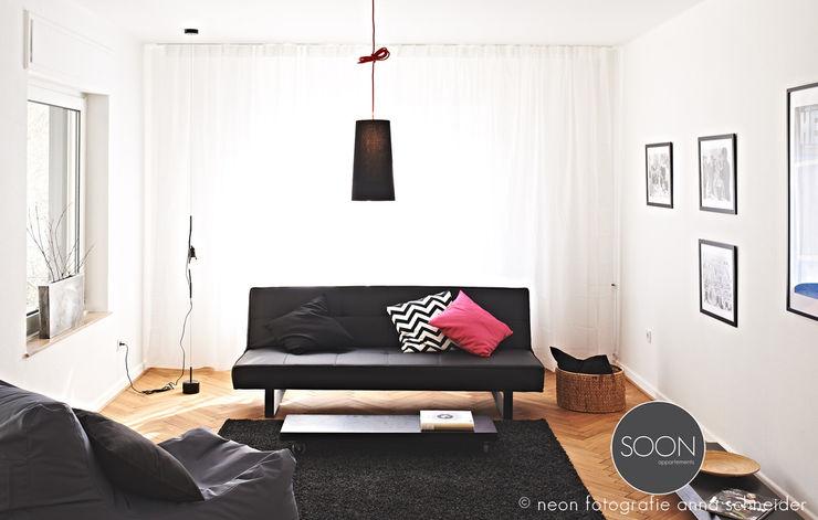 Ferienwohnung Wohnbereich Architekturbüro Götz Oertel Minimalistische Wohnzimmer