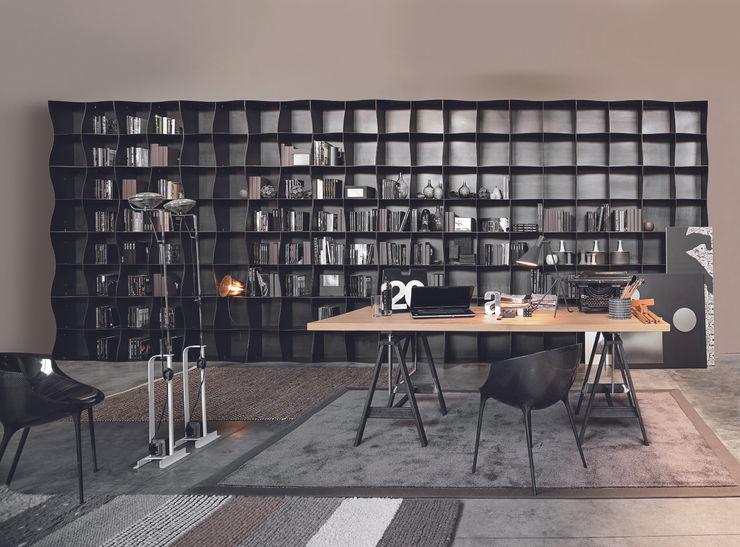Libreria Iron-ic, finitura Ferro naturale Ronda Design SoggiornoSupporti TV & Pareti Attrezzate Metallo
