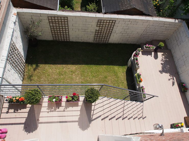 Maison de Famille rénovée agence MGA architecte DPLG Balcon, Veranda & Terrasse modernes