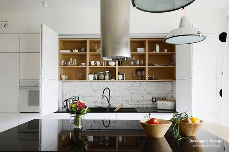 Mieszkanie Wilanów Devangari Design Skandynawska kuchnia