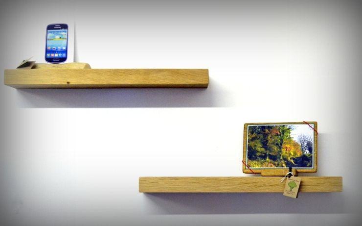 Chunky Oak Floating Shelves Something Wood Living roomShelves