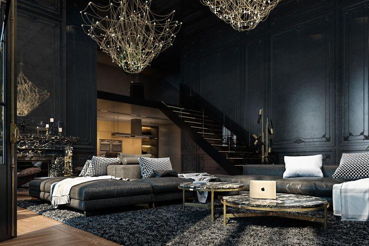 Paris apartment Diff.Studio Salas de estilo ecléctico