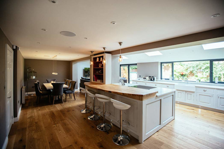 Open Plan Kitchen Dining Area PARKdesigned Architects Cocinas de estilo moderno