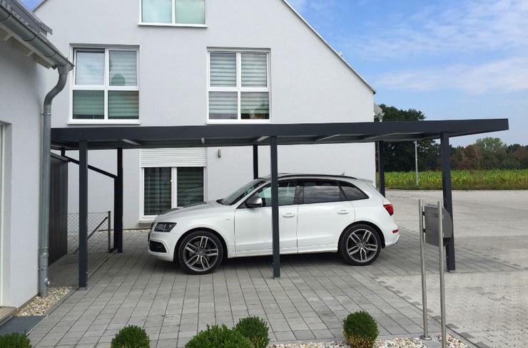My Port Einzelcarport - Seitenansicht MyPort GmbH