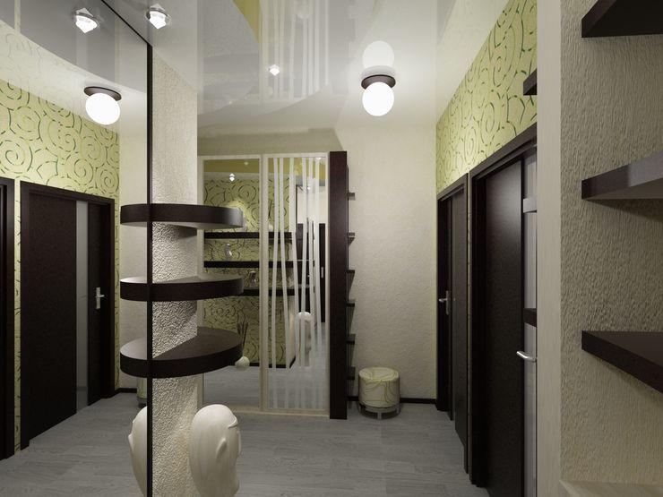 Vera Rybchenko Modern Corridor, Hallway and Staircase