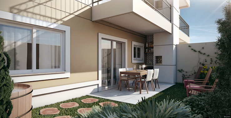 Lodo Barana Arquitetura e Interiores Balcones y terrazas de estilo clásico