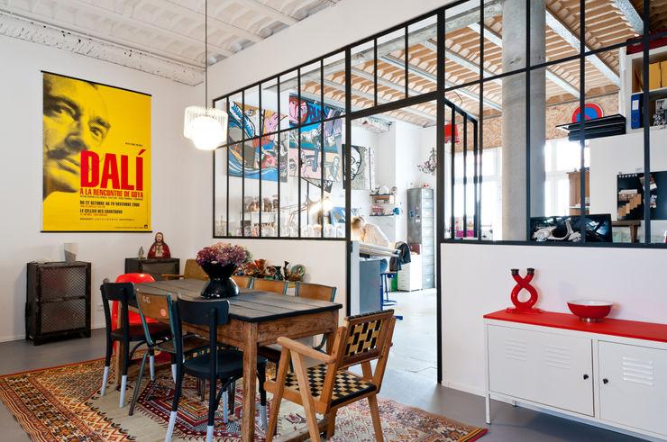 Loft Bordeaux Marie Dumora Salle à manger industrielle