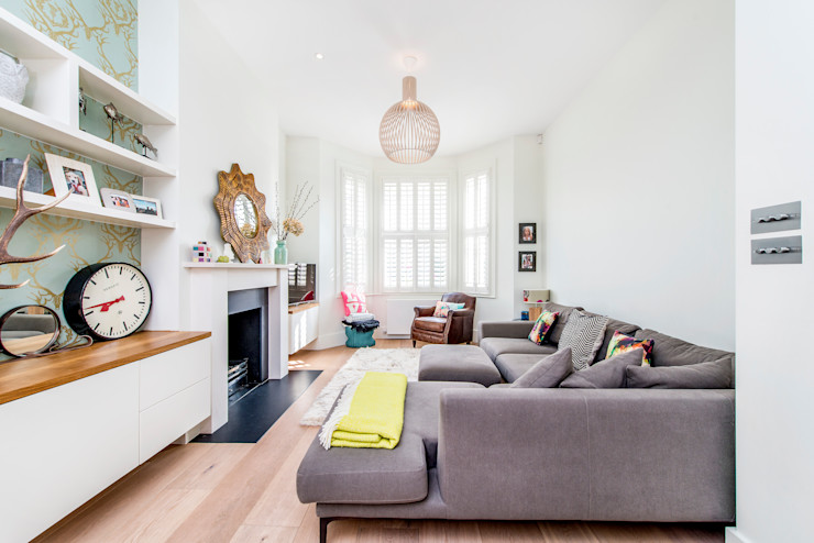 Living Room homify Soggiorno moderno