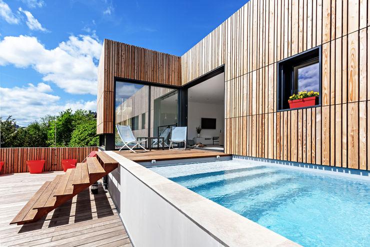 Hugues Tournier Architecte Piscinas de estilo minimalista