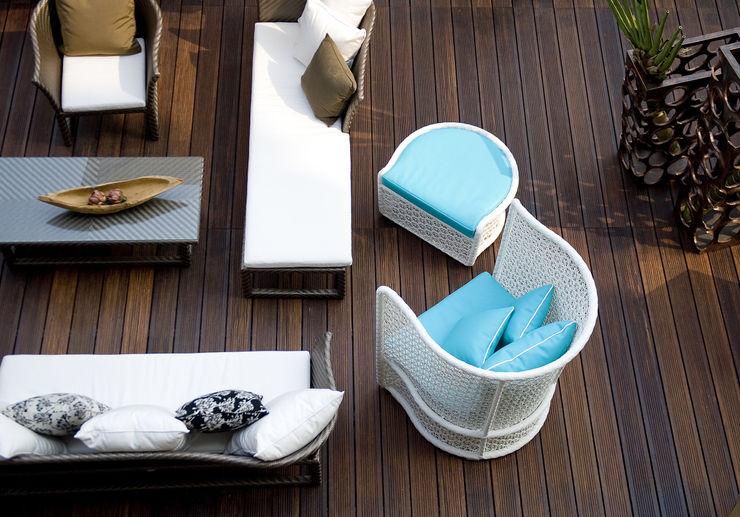 Terrasse Einfamilienhaus Bambus Komfort Parkett Mediterraner Balkon, Veranda & Terrasse